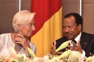 Lagarde et Biya à Yaoundé