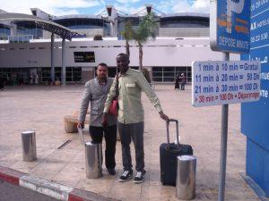 Avec Mohammed à Casablanca